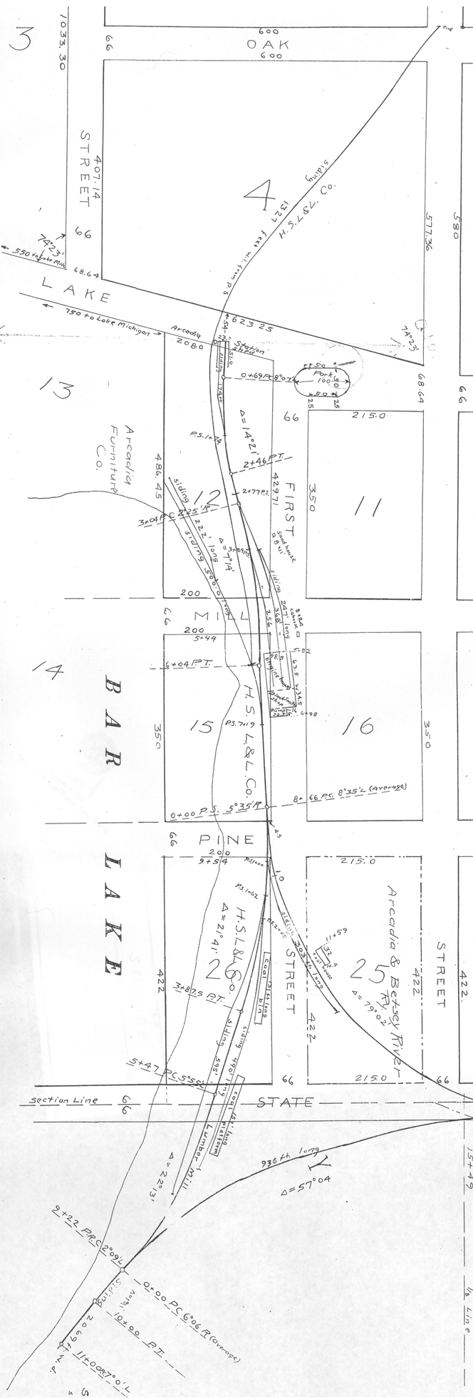 1914 Valuation Map of Northeast Arcadia Lake Shore